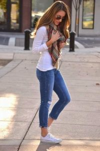 scarf t shirt jeans fashion accessory