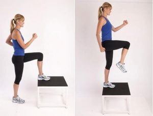 step up butt exercise